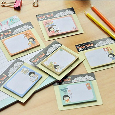 """Cookie Girl"" Pack of 6 Kawaii Sticky Note Flags Memo Cute Pocket Post It Sticker Adhesive Memo Pad(China (Mainland))"