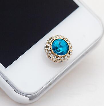 Free Shipping 12 pcs Popular Bow Diamond Home Button Stickers For iPhone iPad DIY Cell Phone Decoration D72(China (Mainland))