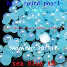 13 colors 10000pcs 4mm AB colors non hotfix half round pearls for nails fabrication half round pearls on nails half round beads(China (Mainland))
