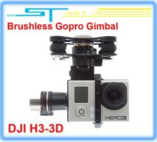 Free shipping FPV DJI Zenmuse H3-3D Phantom HD Camera 3-Axis Brushless Gopro Gimbal support ilook gogro3 DJI Phantom 2 girl gift