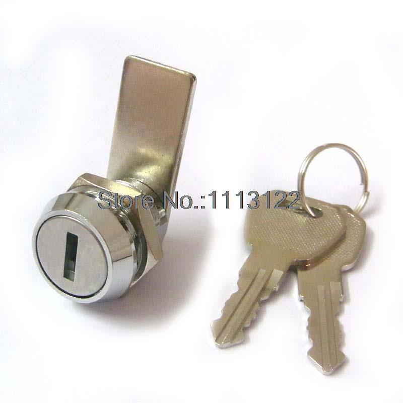 19-16 Flat key mailbox Locks Furniture drawer door Cam Locks Zinc Alloy mailbox lock 5 PC(China (Mainland))