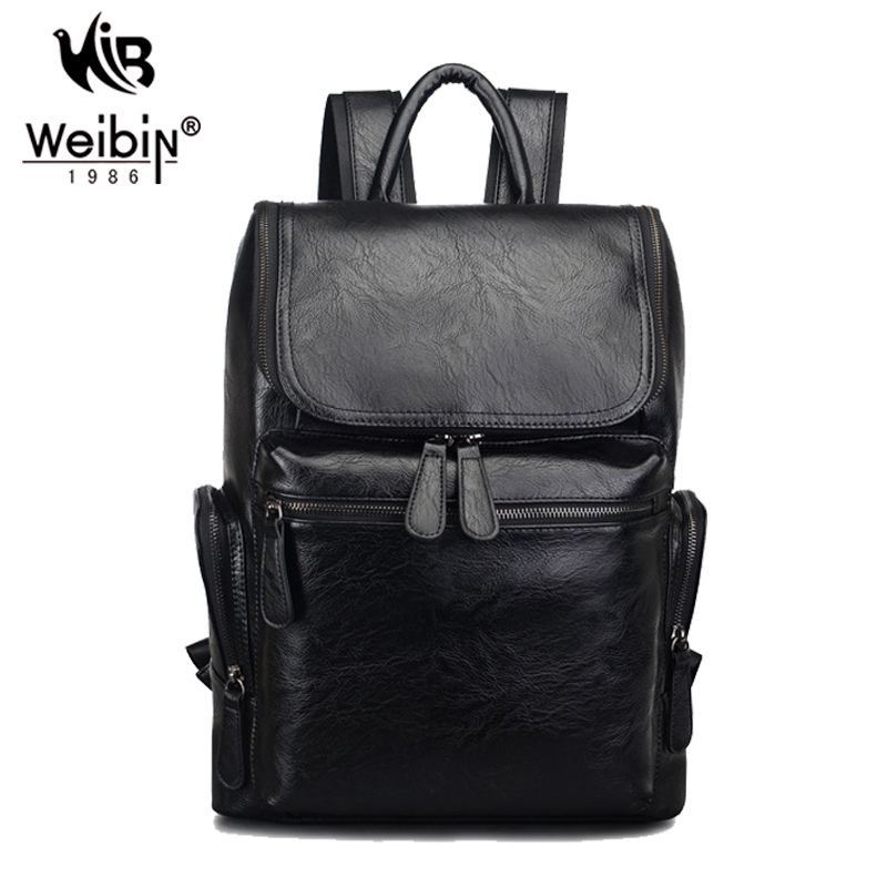 ALL OF U High Quality Vintage Style PU Leather Men Backpacks For College England Preppy Style School Business Backpacks(China (Mainland))