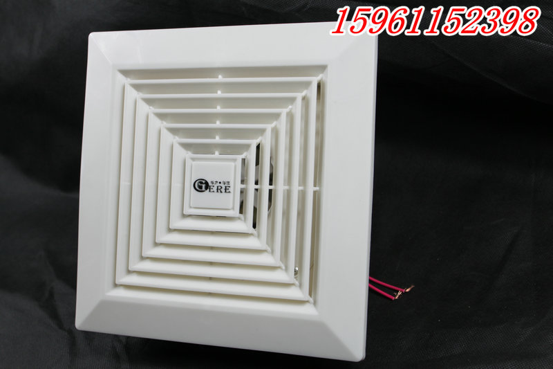 Window Ultra Quiet Fan For Ventilation Kitchen Exhaust Fan Ceiling Embedded Openings 250mm