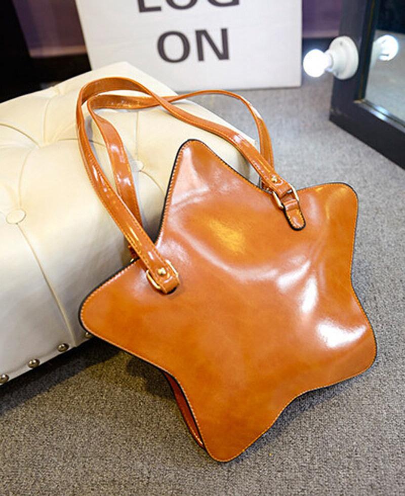 2015 New women pentagram style star shoulder bag women fashion purses irregular shape messenger bag(China (Mainland))