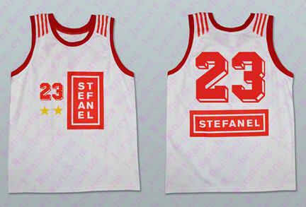 Buy STEFANEL #23 MICHAEL JORDAN Basketball JERSEY NEW Black SEWN ...