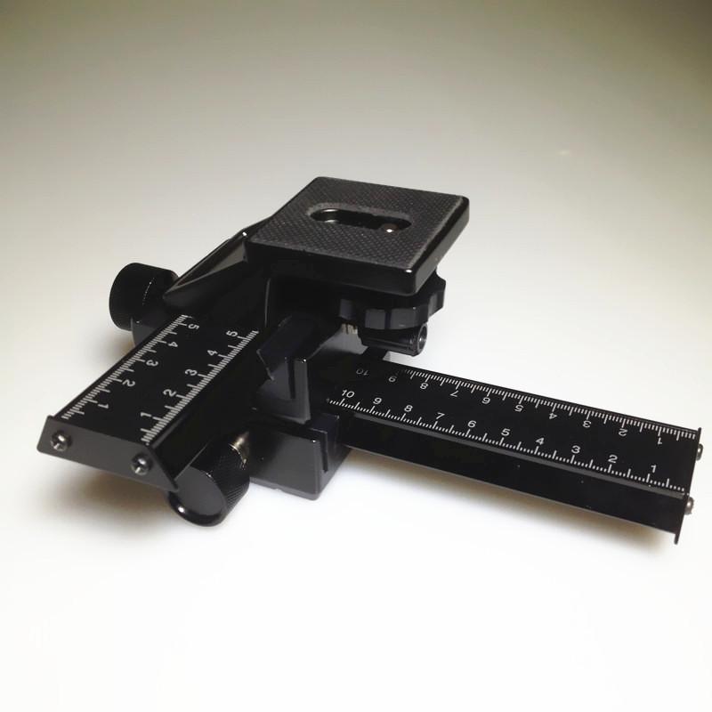Black Aluminum 4 way Macro Focus Rail Slider for CANON NIKON OLY MPUS PE NTAX with 1/4 tripod head <br><br>Aliexpress