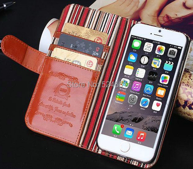Top quanlity Retro Luxury Wallet Stand Leather Case iPhone 6 Mobile Phone cases Bag card Holder Drop Shipping - Shenzhen Wei Jia Xing Electronic Co., Ltd. store