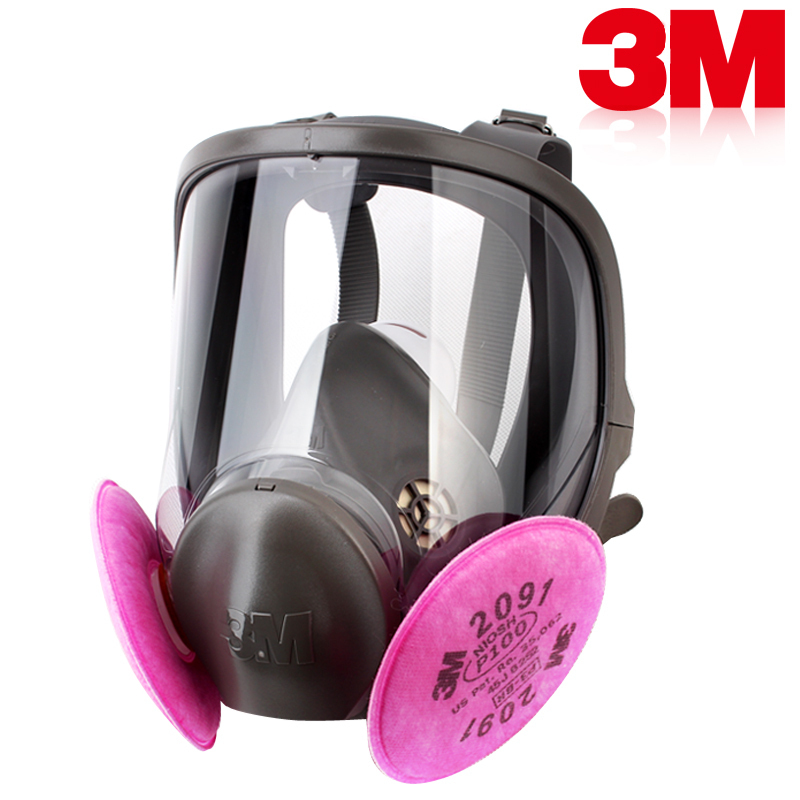 3M 6800+2091 radiation-resistant Exceptional 99.97% filter efficiency P100 against many oil/ non-oil particulate(China (Mainland))