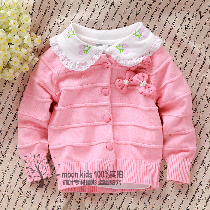 NEW! Free shipping 2016 baby sweater baby outerwear spring sweet outerwear cardigan(China (Mainland))