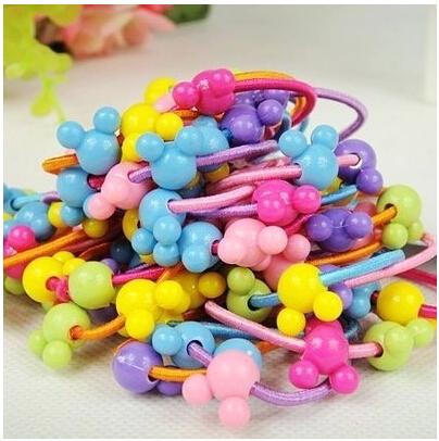 TS 20 pcs High Quality Carton Round Ball Kids Elastic Hair bands Elastic Hair Tie Children Rubber Hair Band(China (Mainland))