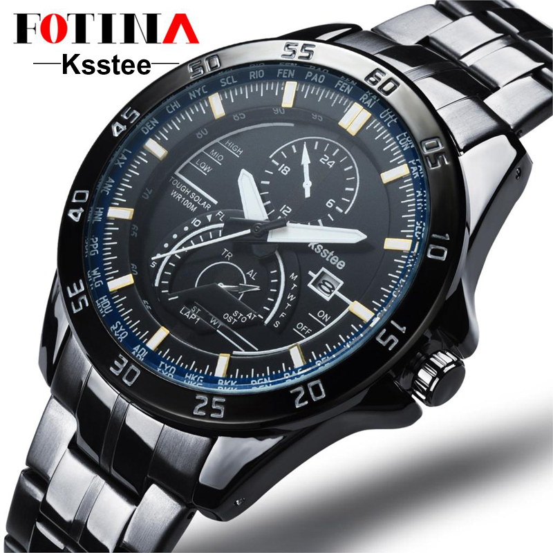 2016 Casual Geneva Quartz Watches Men Date Stainless Steel Watch Band Buckle Cool Luxury Brand Watch For Men Business Watches
