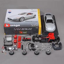 Bburago MAS Quattroporte 1:24 Assembly model ALLOY TOY VEHICLE DIY Block CAR MODEL Toys Gift Toy car(China (Mainland))