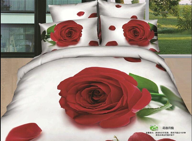 Doble de tama o completo 3d blanco hojas de ropa de cama y - Ropa de cama original ...