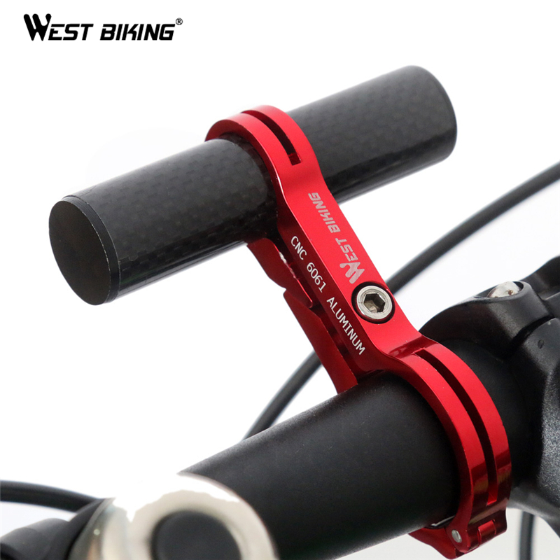 WEST BIKING Bike Cycling Handle Bar Extender Carbon Aluminum Bicycle Extensions Frame Bike Accessories Mount Lamp Bracket Holder(China (Mainland))