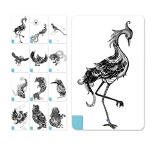Stylish popular Black Animal Pattern Credit Card 5600mAh Power Bank External Battery Charger For iPhone for Samsung