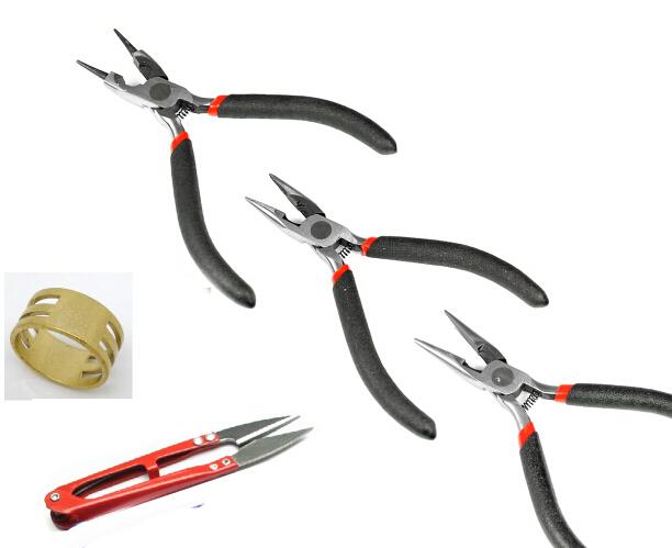 Jewelry Making Pliers DIY Beading Tools Set (Scissor/Diagonal/Flat/Roll Plier/Jump Ring Tool)(China (Mainland))