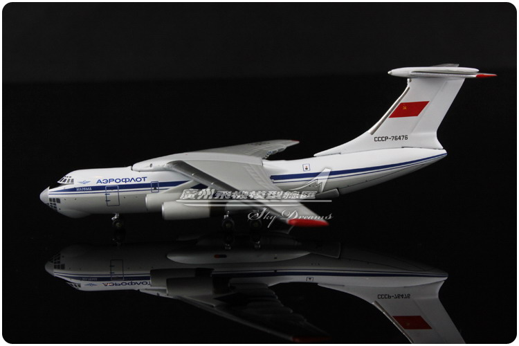 11.6cm 1:400 Alloy Witty WT4I76017 Air Aeroflot Russian Airlines Il-76TD CCCP-76476 Airways Plane Model Airplane Model(China (Mainland))
