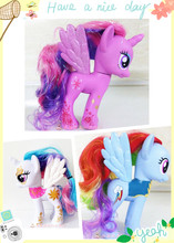14cm poni toy Twilight Sparkle Rainbow Dash Rarity MLP  action figures horse doll toys for Children(China (Mainland))