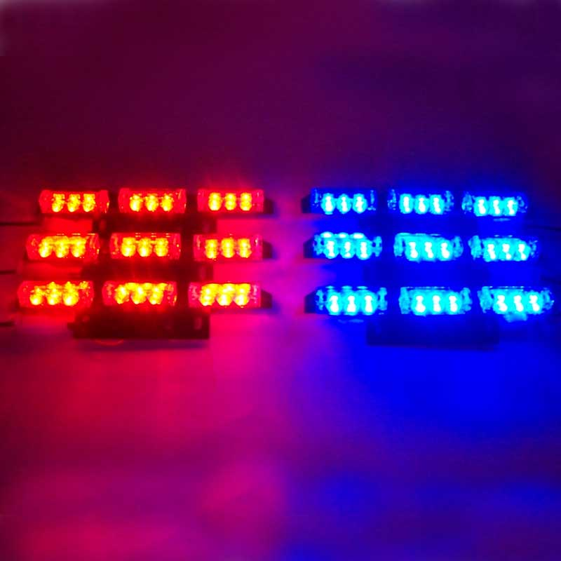54LED Strobe Light save energy colorful strobe flash truck car Strobe Emergency Light warning light Red Blue White Green Amber(China (Mainland))