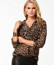 2016 Women Blouse Leopard Print Shirt Long sleeve V -Neck Top Loose Blouses Plus Size Chiffon Shirt Camisa Feminina Clothing(China (Mainland))