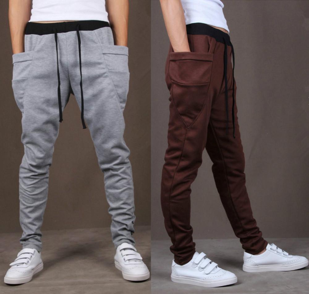 8 Colors 2014 Unique Pocket Mens Jogger Pants Cargo Sweatpants Men ...