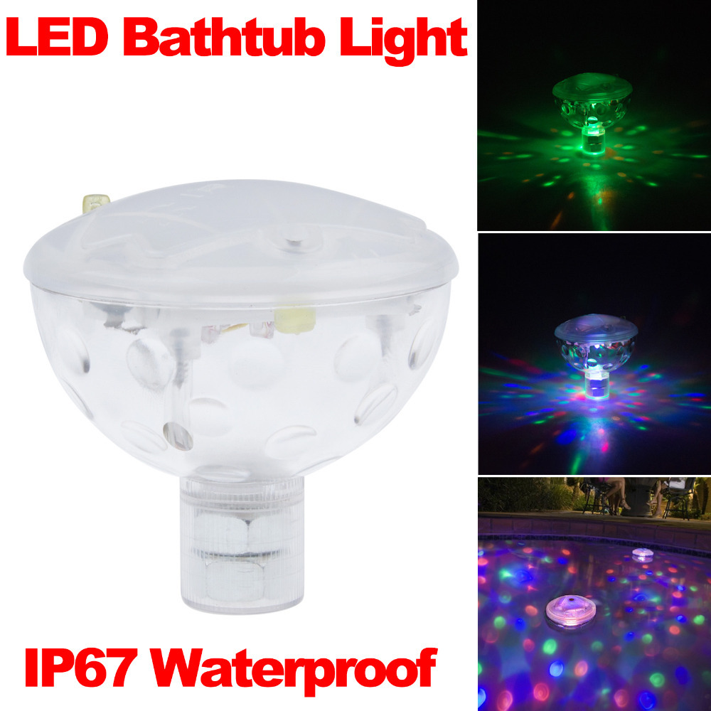 Fashion Color LED Underwater Light Float Spa Bathtub Pond Swimming Pool LED Light Disco Holiday Indoor Lighting IP67 Waterproof(China (Mainland))