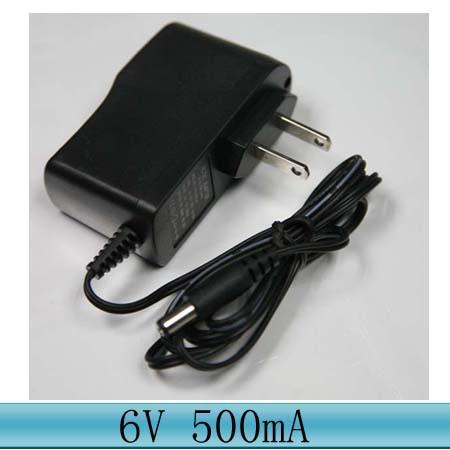 AC 100V-240V Converter DC 6V 500mA Power Supply Adapter 6V 0.5A US EU UK Plug DC 5.5mm*2.5mm 4.0mm*1.7mm 3.5mm*1.35mm 2.5*0.7mm(China (Mainland))
