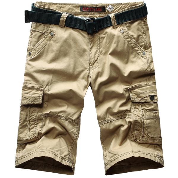 2015 новый свободного покроя боевой мульти карманные шорты мужская работа брюки-карго ...