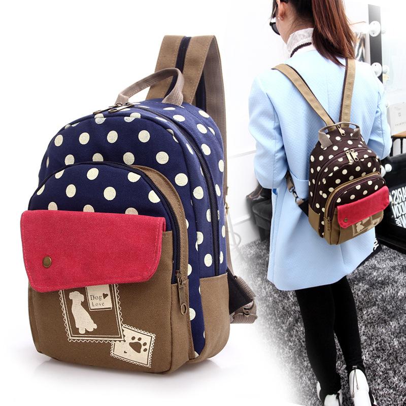 Canvas Backpacks For Teenage Girls Women Outdoors Backpack School Bags ...