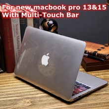 Transparent Crystal Case For Apple New Macbook Pro 13 15 Retina 2016 A1706 A1707 A1708 With Multi Touch Bar Hard PC Clear Cover(China (Mainland))