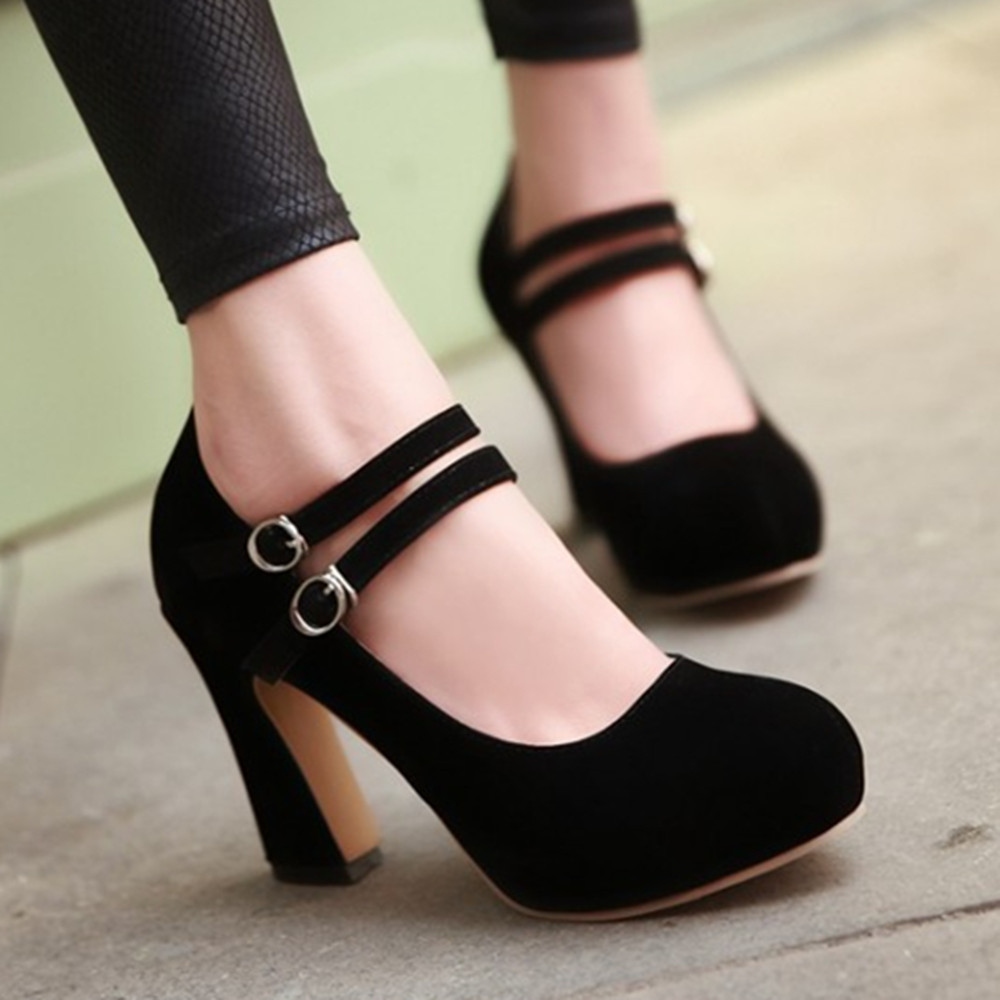 2014 New fashion chunky high heel pumps shoes for women platform mary jane ladies spring for her shoes 5205<br><br>Aliexpress