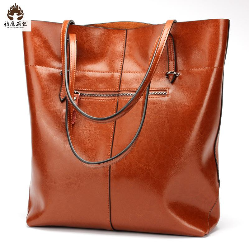 2016 New Brand Europe And The United States New Fashion Leather Handbag Leather Bag Bag Bag Bags Wholesale Import Trade