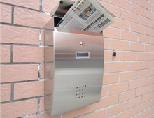 High Quality waterproof Stainless steel Vintage Newspaper Mailboxes Post Box Letter Box fashion Mailbox XX05(China (Mainland))