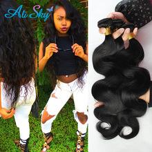 Brazilian body wave virgin hair 3pcs lot 6a 100% human hair weave bundles Unprocessed remy brizilian virgin hair body wave soft(China (Mainland))