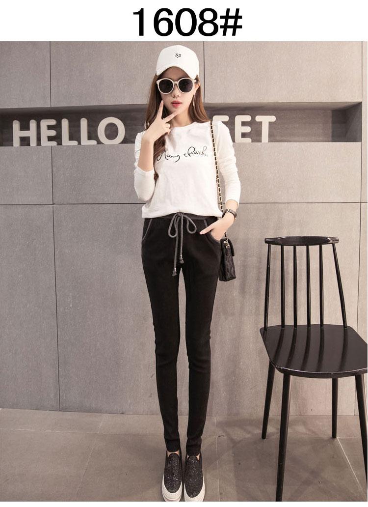 2017 New Fashion Womens Harem Pants Summer Autumn Women Pant Female Trousers Ladies' Causal Cotton Capris 6 Sizes