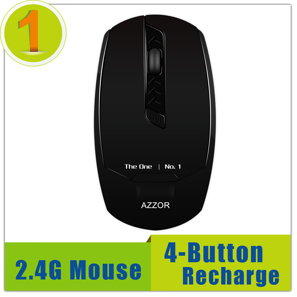 Hot High Quality 2.4Ghz Rechargeable (3.7v 14500 Lithium Battery) Ergonomic Optical Wireless Silent Mute Gaming Mouse(China (Mainland))