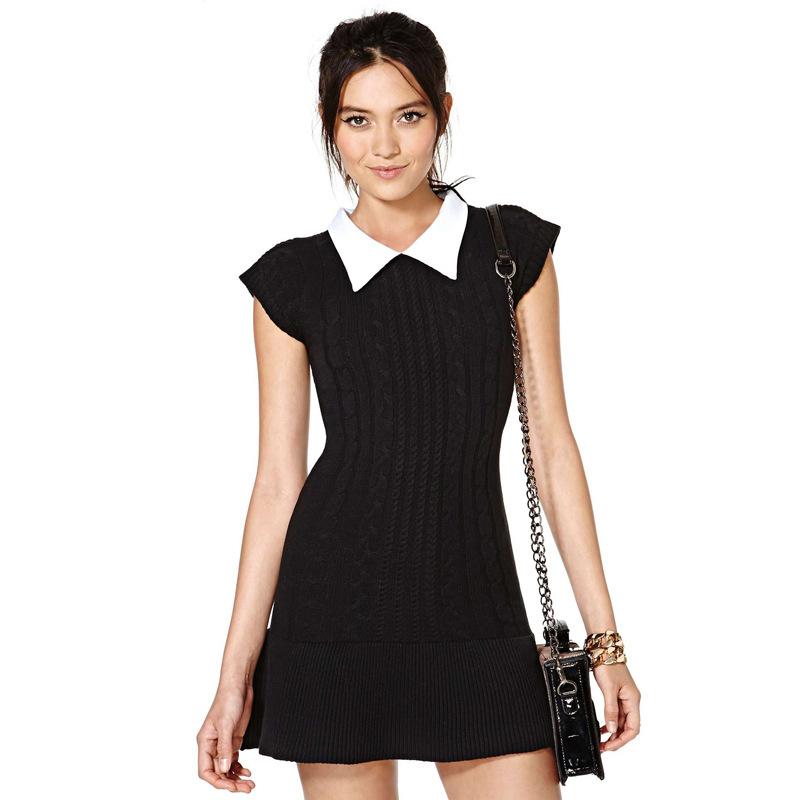 Lovely dress shirt collar rib knit hem stitching small for Small collar dress shirt