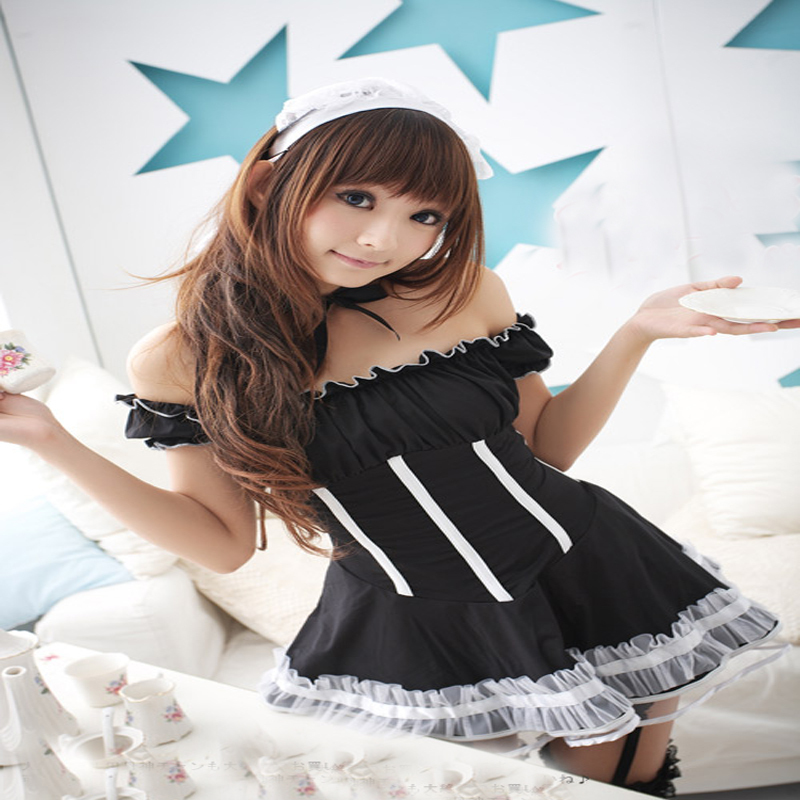 sexy lingerie Costumes lolita maid photo service costume(China (Mainland))