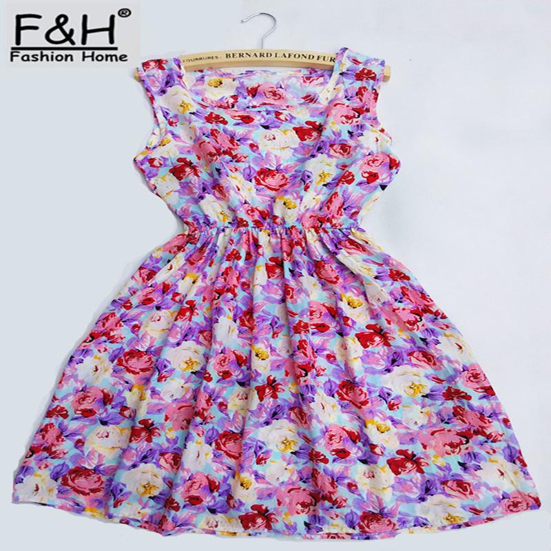 Free shipping !! 2015 HOT new 20 Styles Women casual Bohemian floral leopard sleeveless vest printed beach chiffon dress NZ17(China (Mainland))