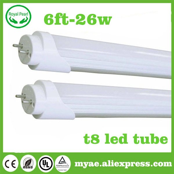 (4piece)  free shipping t8 led tube 1800mm 1.8m 6ft 26w AC 85-265v warm nature cool white t8 light lamp christmas living room(China (Mainland))