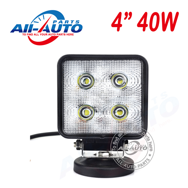 "Super bright 40W led work light 10W per LED 4"" flood light top quality spot light for agriculture inudstry vehicles APW-440W(China (Mainland))"