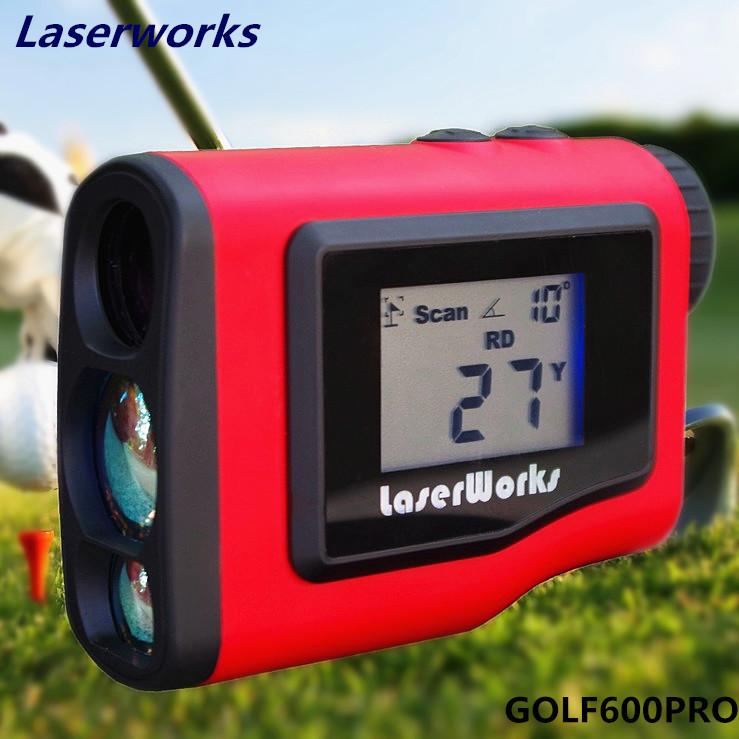 Golf rangefinder 600m handheld LCD display scope hunting laser rangefinder measurement range monocular waterproof 3 colors 005(China (Mainland))