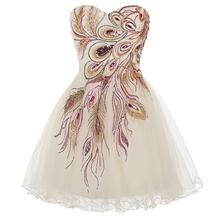 Peacock Bridesmaid Dresses Grace Karin Black White Bridesmaid Dresses Short 2016 Feather Peacock Prom Dress Wedding Party Dress(China (Mainland))