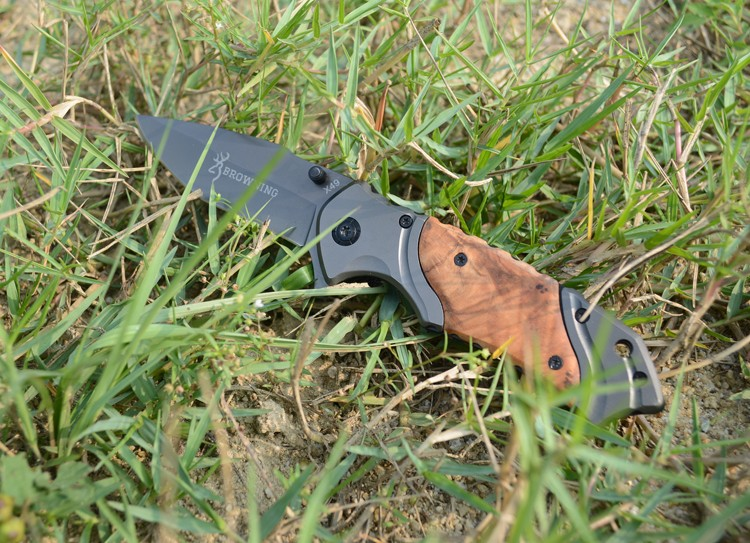 Buy NEW Browning Folding Knife 440C Titanium Coating Blade Pocket Survival Knifes Hunting Tactical Camping Knives Outdoor Tools X49 cheap