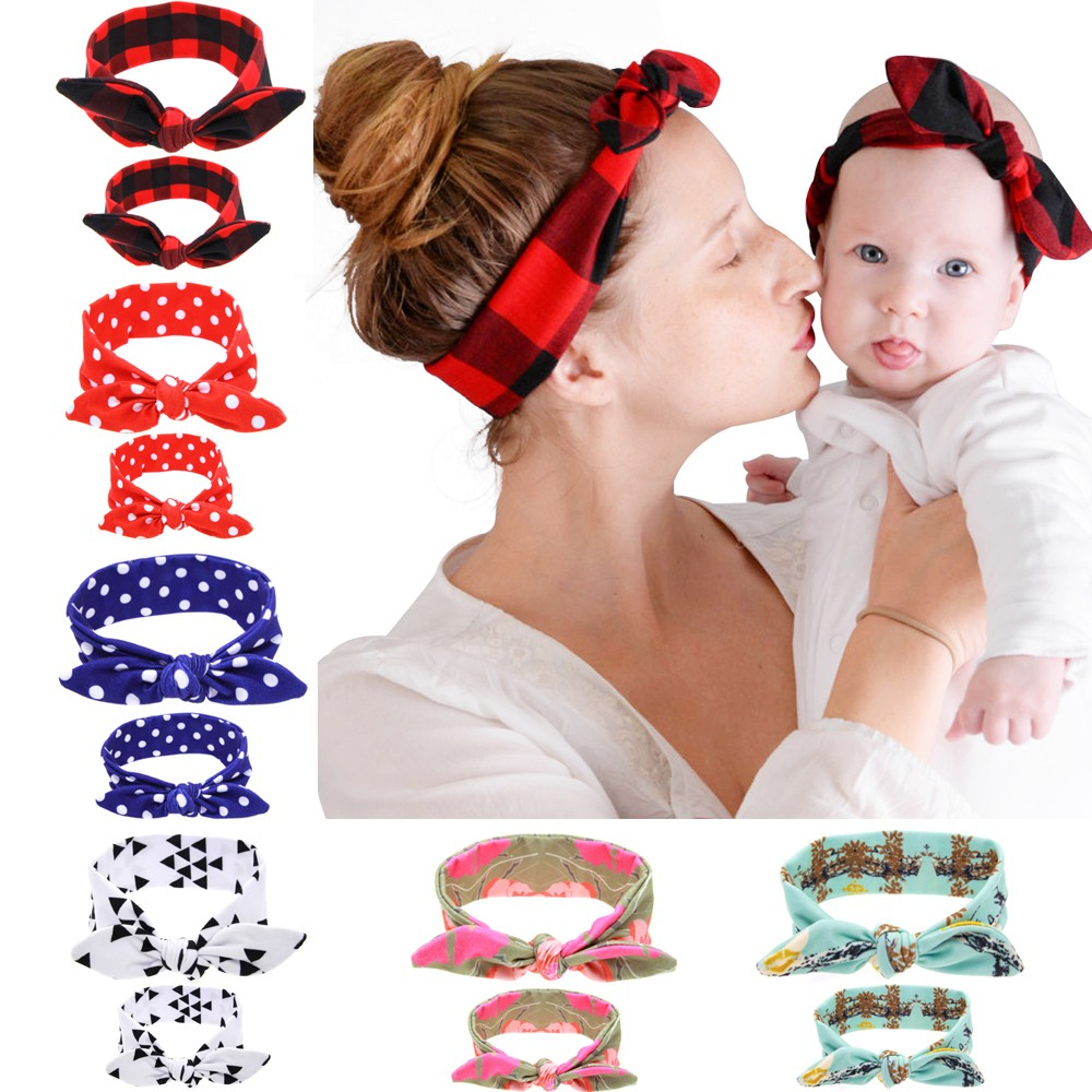 New Cute Baby&Mother Paternity Set Cross Knot Headband Beautiful and Comfortable Baby/girls/mother Hair Accessories W222(China (Mainland))