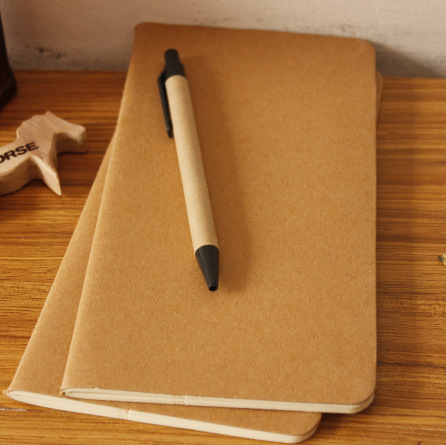 Cowhide Paper Notebook Blank Notepad Book Vintage Soft Copybook Daily Memos Kraft Cover Journal Notebooks Free Shipping 1426(China (Mainland))