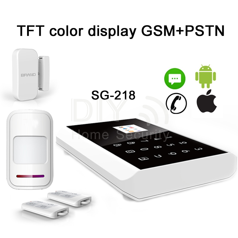 IOS & Android support Wireless GSM SMS alarm smart home Security alarm System with Russian/French/English/Spanish menu SG-218(China (Mainland))