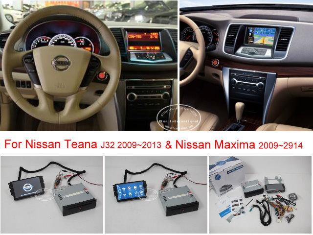 For NISSAN Teana J32 / Maxima 2008~2013 - Car DVD Player GPS NAVI Navigation System + BT USB AUX HD Touch Screen Multimedia(China (Mainland))