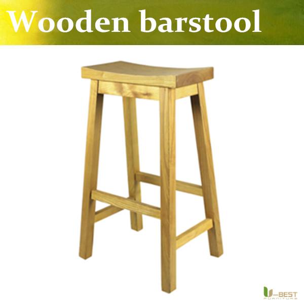 U-BEST Wooden Bar Stool Contemporary Swivel Stools,Oak Wood Stool with Square Post Legs Basics Natural Finish wood barstool(China (Mainland))