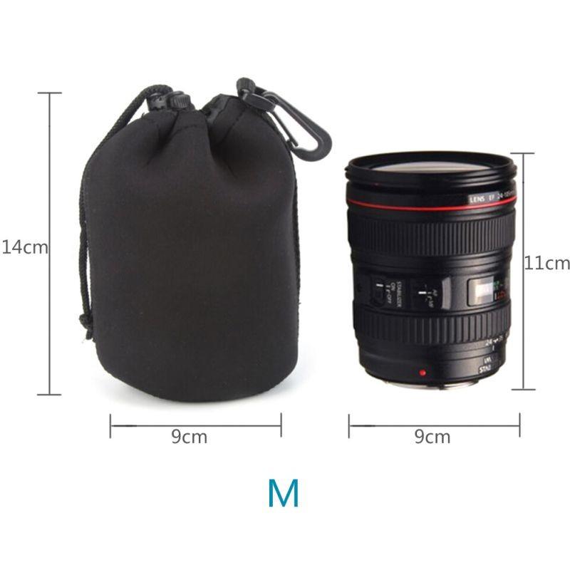 image for Camera Neoprene DSLR Lens Soft Pouch Protector Case Bag For Canon Niko